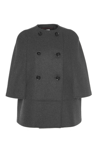 Medium martin grant dark grey short double breasted wool cape