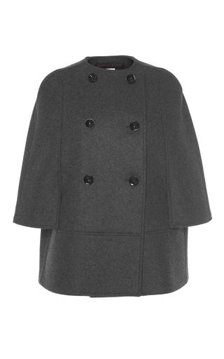 Medium martin grant dark grey short double breasted wool cape