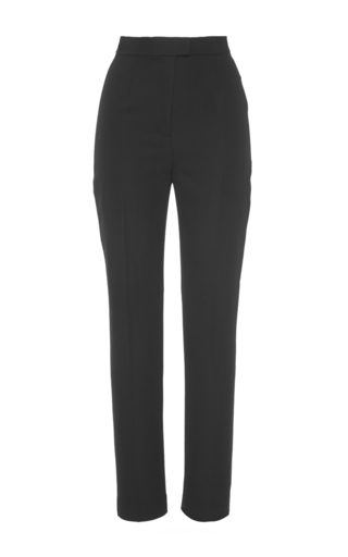 Medium martin grant black classic slim wool pant