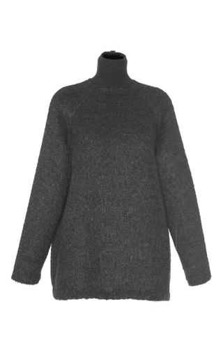Medium martin grant dark grey oversized mohair turtleneck sweater