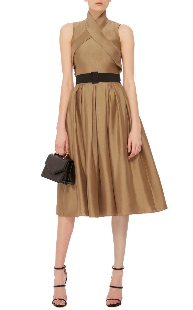 wrap dress with pleated skirt by martin grant moda operandi