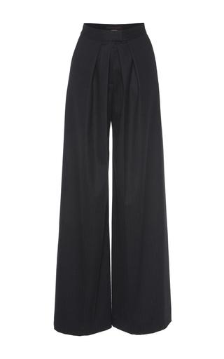 Medium martin grant black black two pleat wool trouser