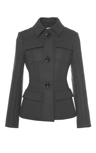 Medium martin grant dark grey wool military jacket