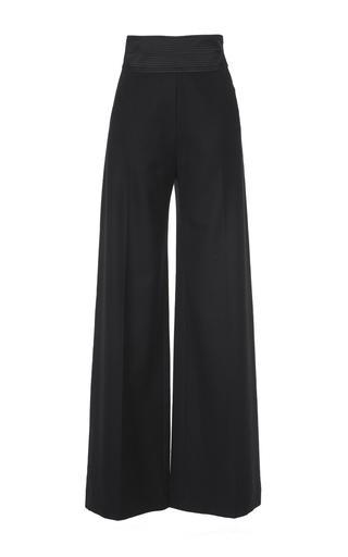 Medium martin grant black wool smocking pant