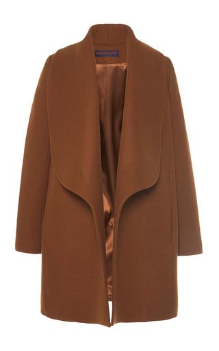 Medium martin grant brown draped lapel wool smocking coat