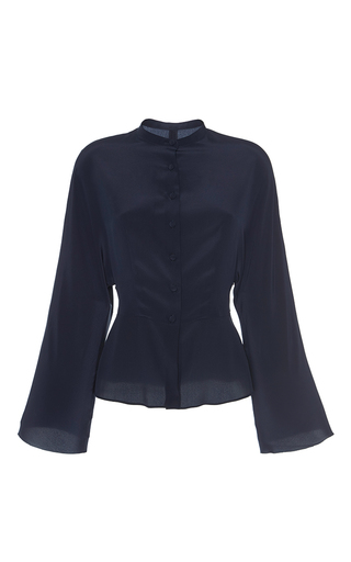Silk Bat Wing Button Up Shirt by MARTIN GRANT for Preorder on Moda Operandi