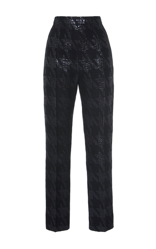 Brocade Houndstooth Slim Pant by MARTIN GRANT for Preorder on Moda Operandi