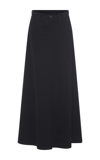 Medium veronique branquinho black denim a line skirt