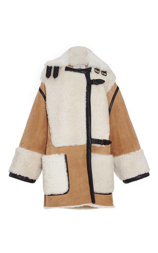 Medium veronique branquinho brown lamb shearling oversized coat
