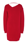 Off The Shoulder Sweater Dress by MSGM Now Available on Moda Operandi