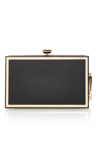 Black And Gold Brass Clutch by ELIE SAAB Now Available on Moda Operandi