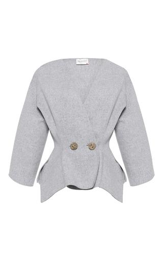 Medium maison rabih kayrouz light grey textured wool blazer