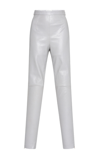 Medium maison rabih kayrouz light grey lamb leather legging