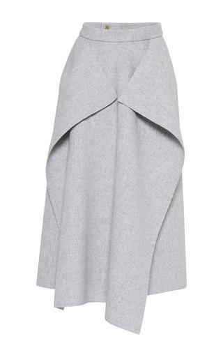 Medium maison rabih kayrouz light grey origami wool skirt