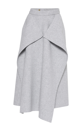 Medium maison rabih kayrouz light grey origami wool skirt