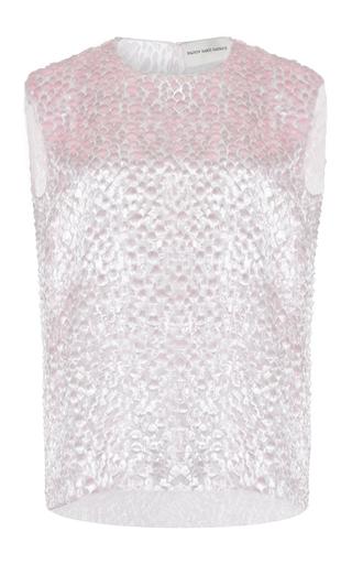 Medium maison rabih kayrouz pink velvet drops tank top