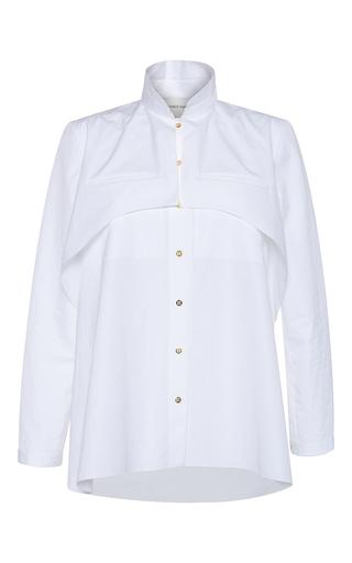 Medium maison rabih kayrouz white cotton poplin button up shirt