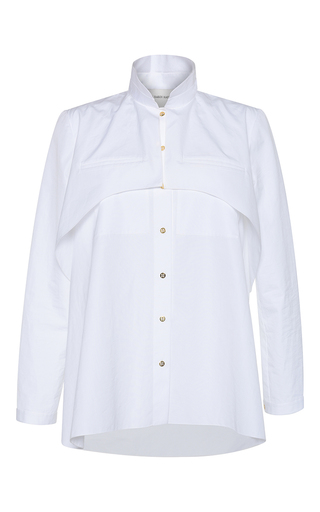 Medium maison rabih kayrouz white cotton poplin button up shirt