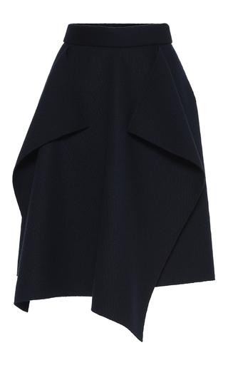 Medium maison rabih kayrouz navy wool draped skirt