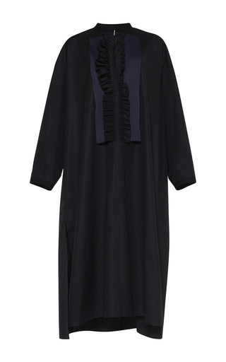 Medium maison rabih kayrouz black ruffled caftan