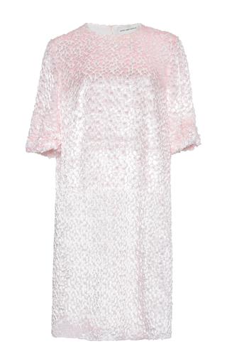 Medium maison rabih kayrouz pink velvet drops dress