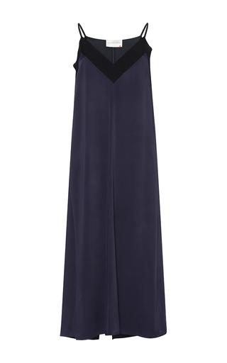 Medium maison rabih kayrouz navy sleeveless satin crepe dress