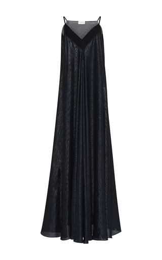 Medium maison rabih kayrouz navy sleeveless lame stripes dress
