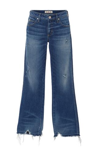 Medium amo  3 dark wash jane destroyed hem bootcut jeans