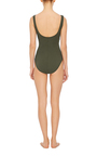 Basic Surplice Wrapped One Piece Swimsuit by KARLA COLLETTO Now Available on Moda Operandi