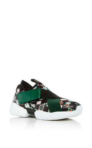 Medium emilio pucci green monreale leather sneakers