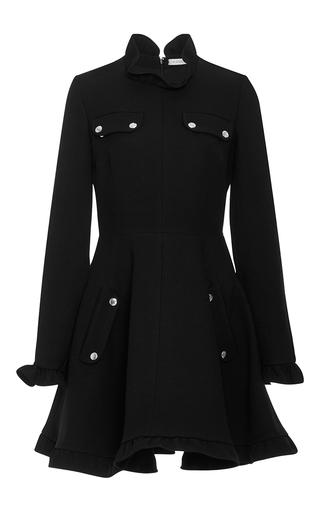 Medium j w anderson black ruffle trimmed skater dress