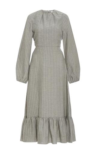 Medium j w anderson grey long sleeve midi dress