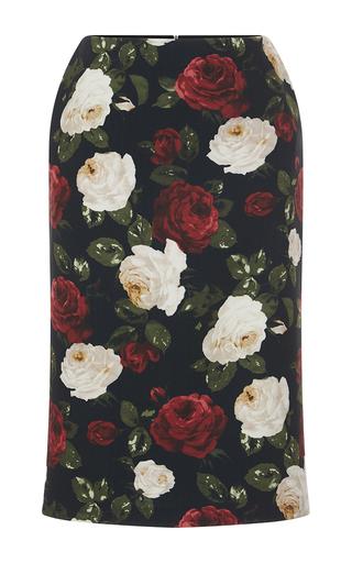Medium blugirl dark green floral printed pencil skirt