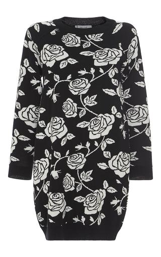 Medium blugirl black floral printed jacquard dress