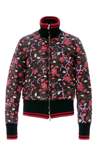Medium emilio pucci floral lip printed down jacket