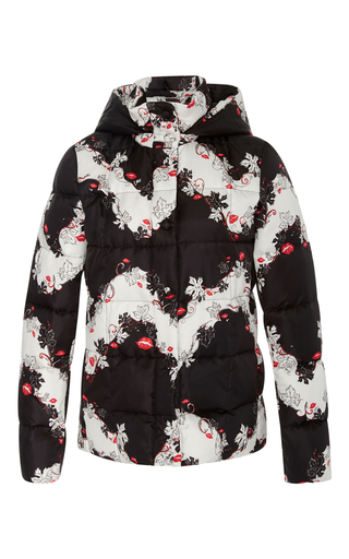 Medium emilio pucci black white floral down jacket