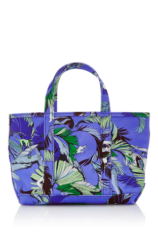 Medium emilio pucci blue medium jungle printed canvas tote