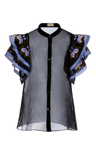 Medium temperley london black elette floral detail shirt