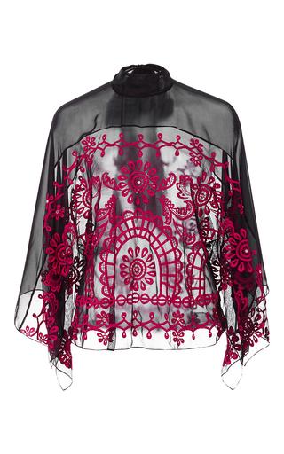 Medium temperley london black evadine embroidered top