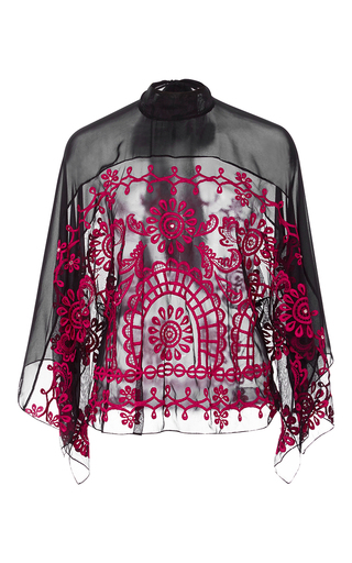 Medium temperley london black evadine embroidered top