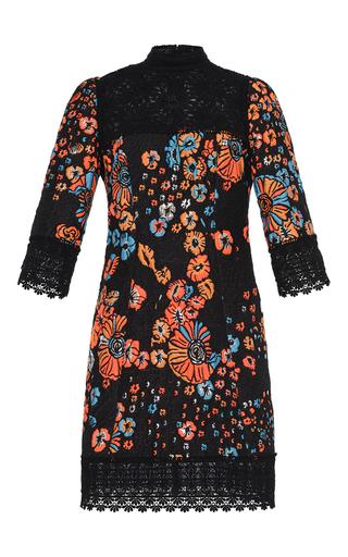 Medium andrew gn floral floral jacquard high yoke dress