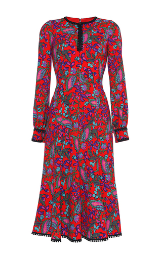 Medium andrew gn floral split neck floral blouson dress