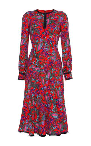 Medium andrew gn floral split neck floral blouson dress