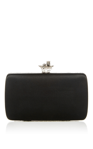 Medium roberto cavalli black satin minaudiere