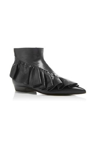 Medium j w anderson black ruffle ankle boots