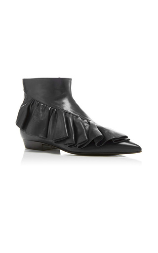Medium j w anderson black ruffle ankle boots