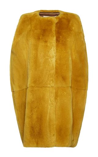 Medium marni yellow lapin rabbit fur waistcoat