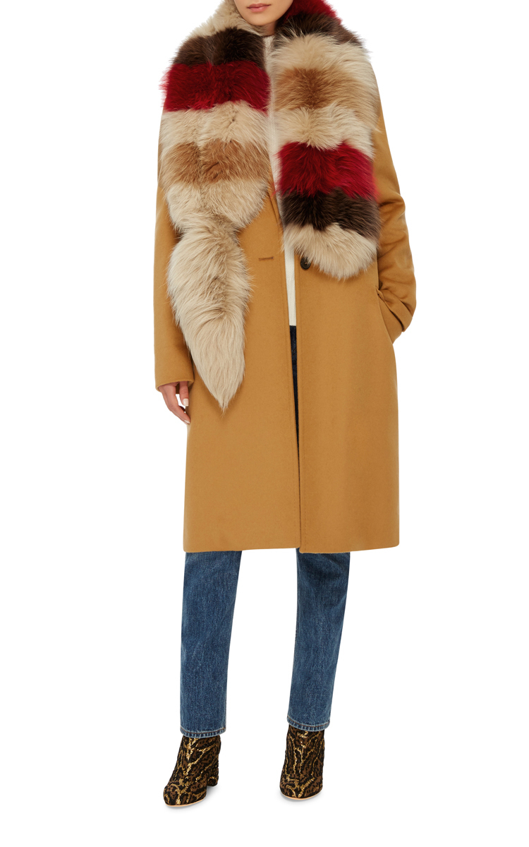 Buy Cheap Huge Surprise Perfect Sale Online Marni striped fox fur stole Buy Cheap Footlocker Finishline Cheap Sale Outlet Store amIWM