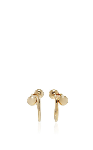 Medium j w anderson gold extra small double ball earrings