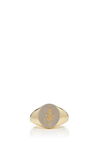 Medium j w anderson gold small signet ring
